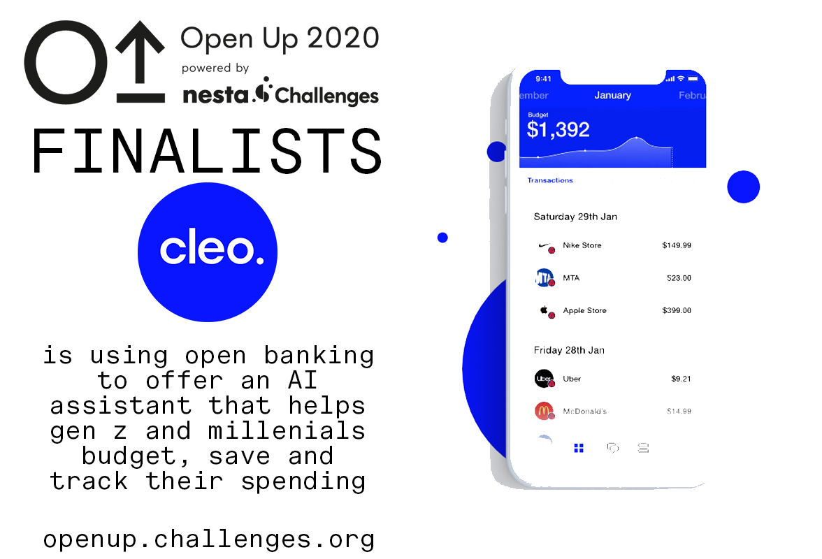 Cleo is using open banking to help people better manage their money through more transparent, accessible and fair products.