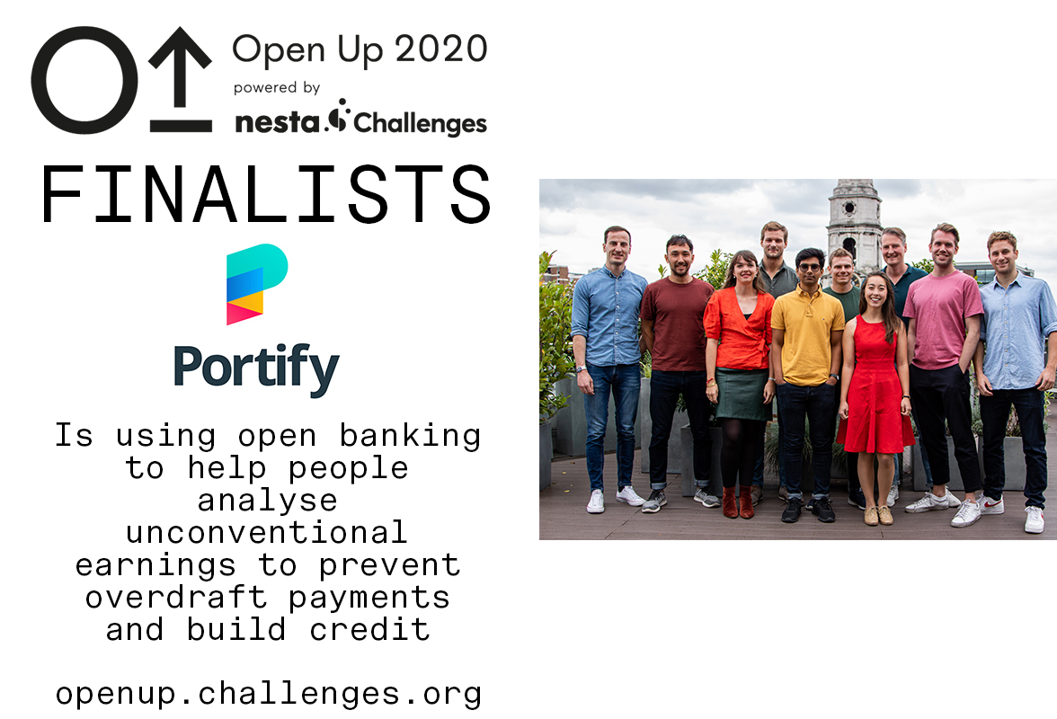 Portify's solution analyses earnings and spending behaviours to prevent overdraft and interest payments.